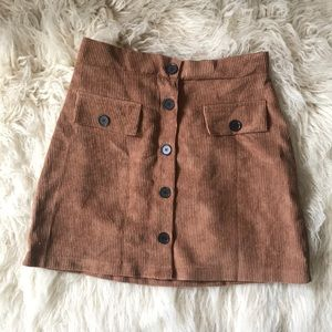 Faux Corduroy Skirt